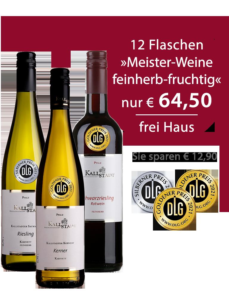 12 Flaschen<br>»Meister-Weinpaket feinherb-fruchtig«