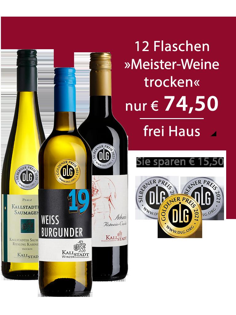 12 Flaschen<br>»Meister-Weinpaket trocken«