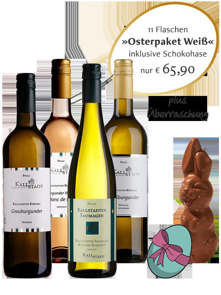 11 Flaschen<br>»Osterpaket Weiß 2021«