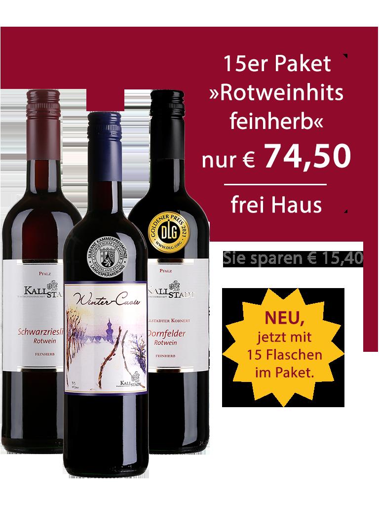 15er Paket<br>»Rotweinhits feinherb«