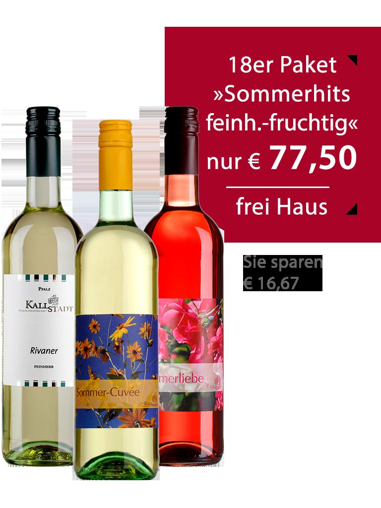 18er Paket<br>»Sommerhits feinherb-fruchtig«