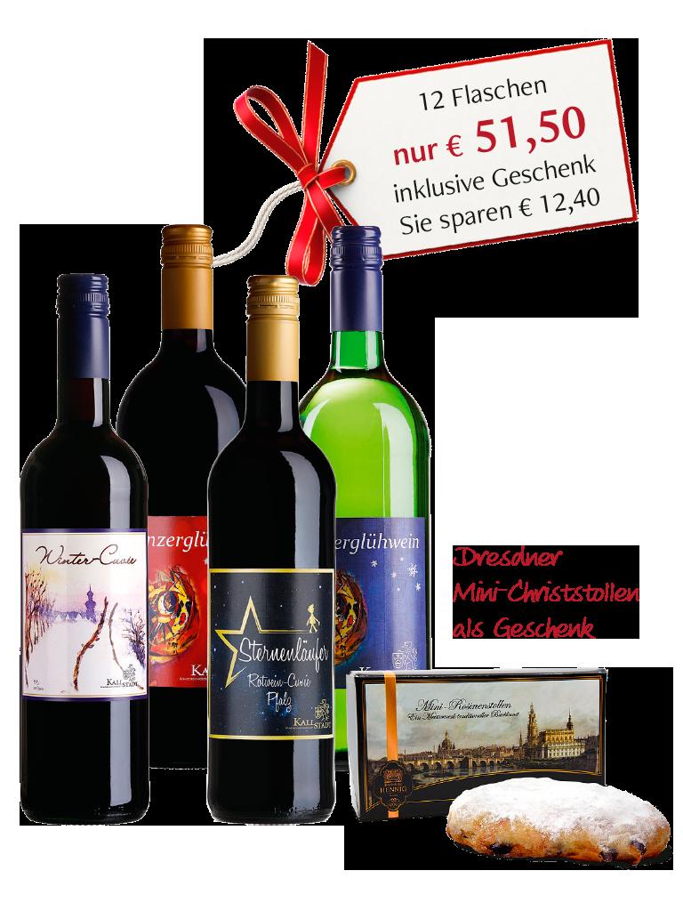 »Winterweinpaket 2019«<br>inklusive Geschenk